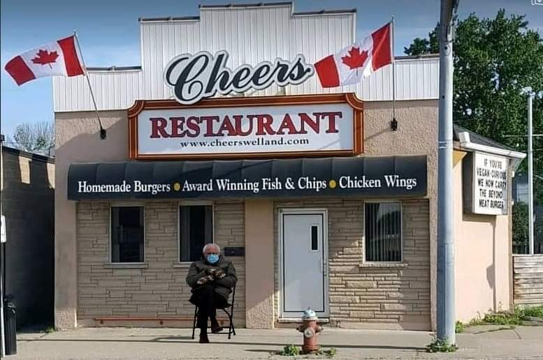 Looking forward to wonderful #fishandchips from #Cheers @Welland_ #Niagara #Ontario for dinner tonight but I see this guy's inline already!  #SNRTG @917GIANTFM @country89_1  #BernieSandersMittens #Berniememes #berniesmittens #BernieSanders @myWelland