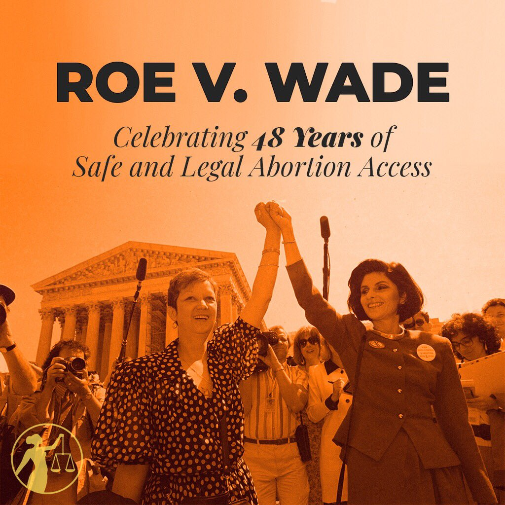 Everybody knows somebody who has had an #abortion. Today we honor the #anniversary of #RoevWade the #SCOTUS decision that legalized abortion in the US back in 1973. We are proud to be faithful advocates for #reproductivefreedom 💖