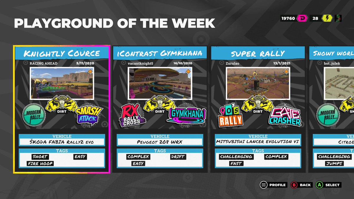 This Playground and three others are now in our Featured panel in Discover. Head here on any platform to try four more brilliant player-made arenas 👇  #DIRT5