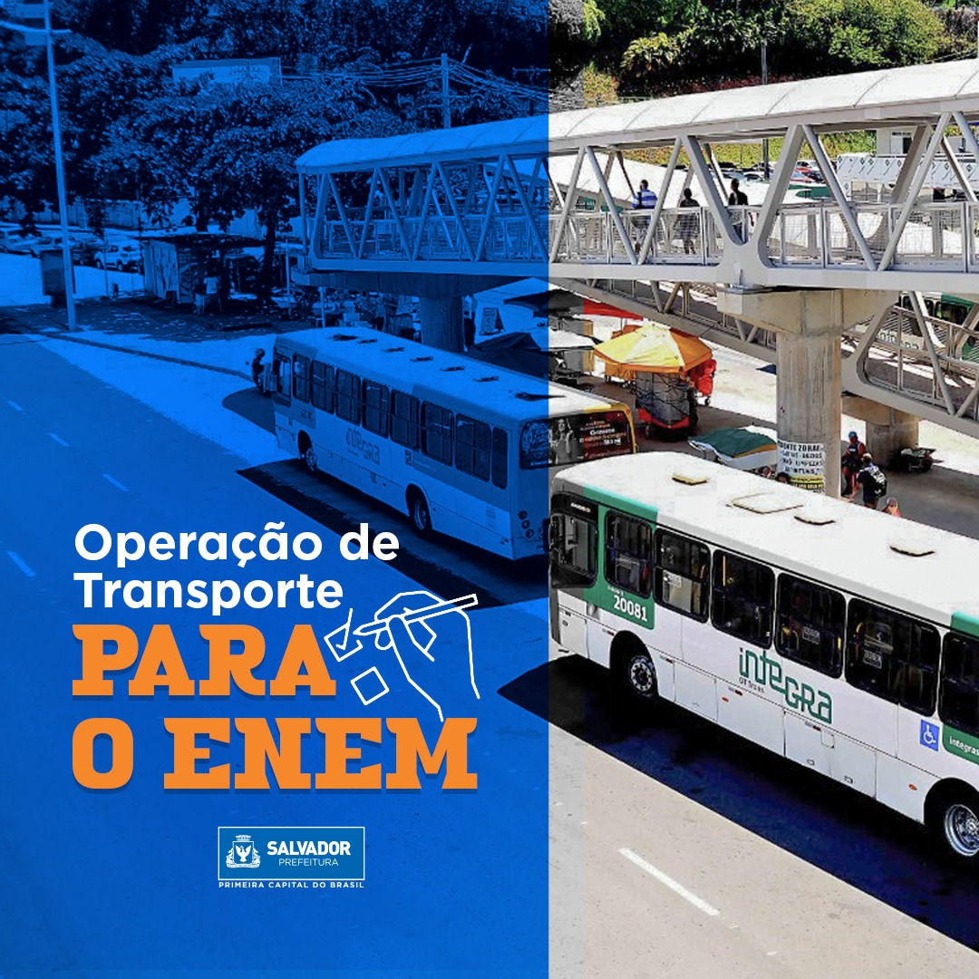 Confira a operação especial de transporte para o segundo dia de Enem:  #ENEM #transportepublico #semobsalvador #SEMOB
