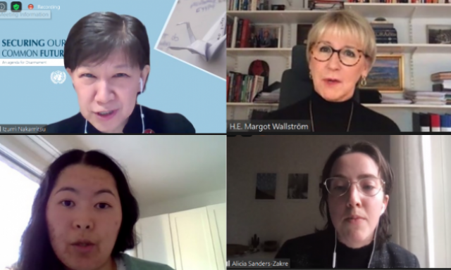 Last year UNA-UK, @JoinUN75 + @WomenLeadersG hosted an all-women panel on #NuclearDisarmanent at #UN75.  Catch up on the event, with @margotwallstrom, @INakamitsu, @azakre, @pnndglobal's Marzhan Nurzhan, + @Natalie_UNnerd.    #nuclearban