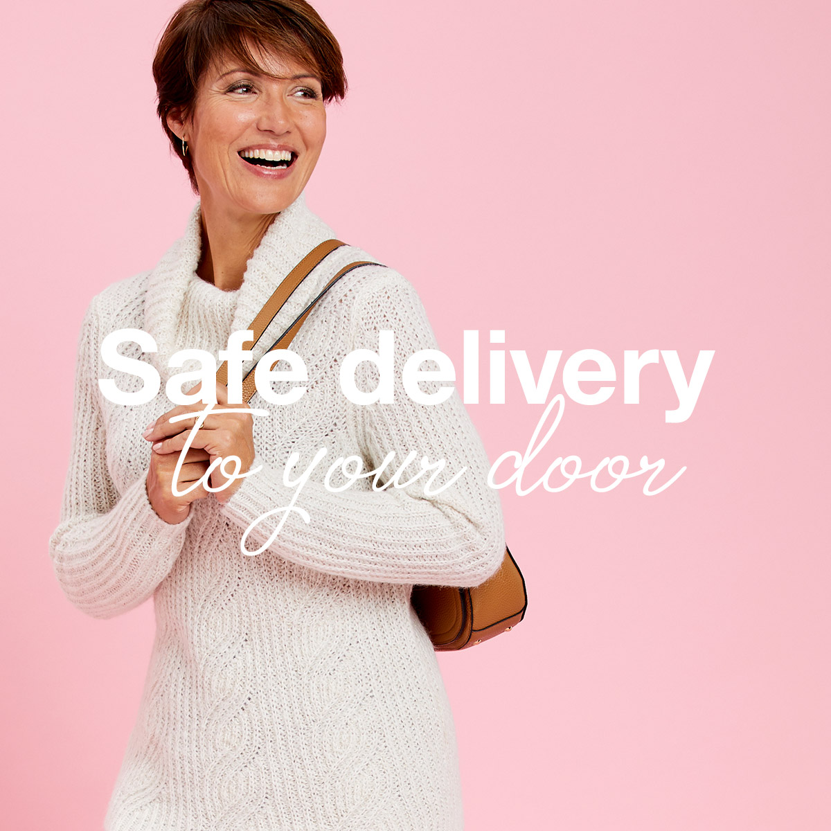 Delivering safely to your door You can also choose your safe place for a delivery or a neighbour and we don't need a signature. We'll take a photo instead and pop a card through your door so you know your parcels arrived and where to find it.