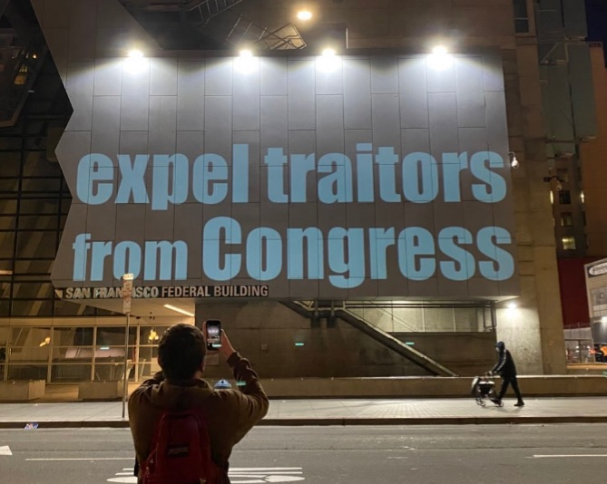 @SpeakerPelosi Good.  Projected on your district office. #ConvictTrump  #ImpeachAndExpel