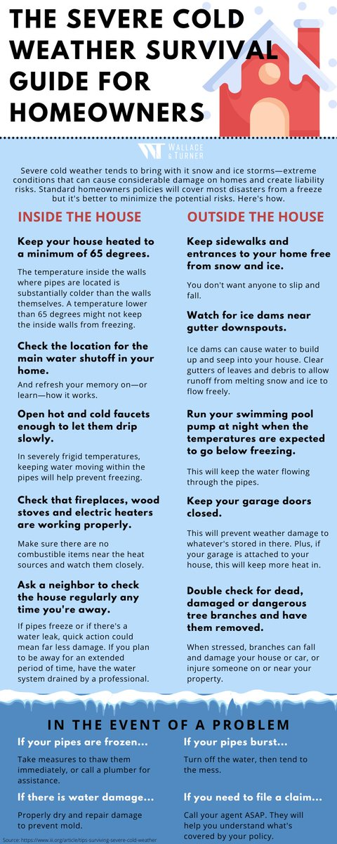 It's critical to stay ahead of deep freeze disasters during winter weather. Here are a few tips to avoid potential hazards inside and outside your home.  #winter #wintertime #winterweather #coldweather #snowing