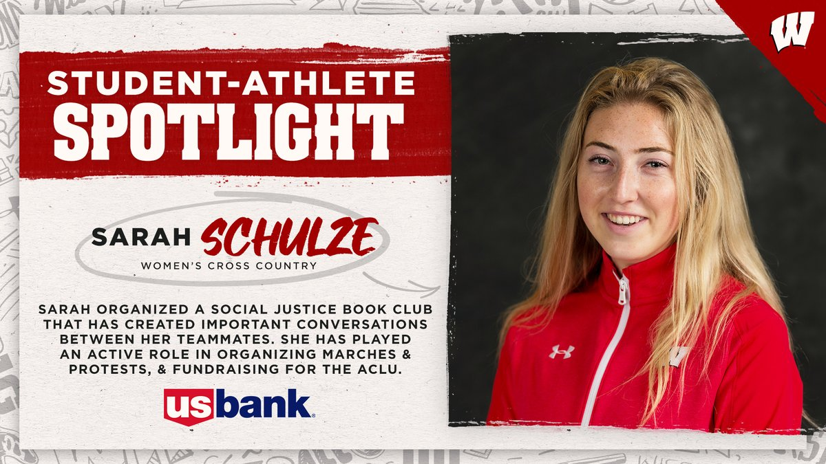 Happy to present our next @usbank Student-Athlete Spotlight  Sarah Schulze has stepped up as a team leader for @BadgerTrackXC!  Proud of this Badger! #OnWisconsin
