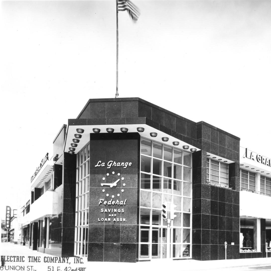 #flashbackfriday  Style 1000 #towerclock La Grange Federal Savings and Loan Building #lagrange Illinois.