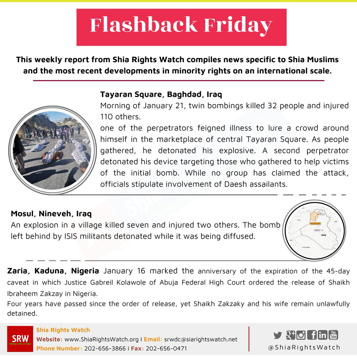 #FlashbackFriday Shia-related news in the past week Read full reports on  #MiddleEast #Iraq #Nigeria #Shia #anti-Shiism