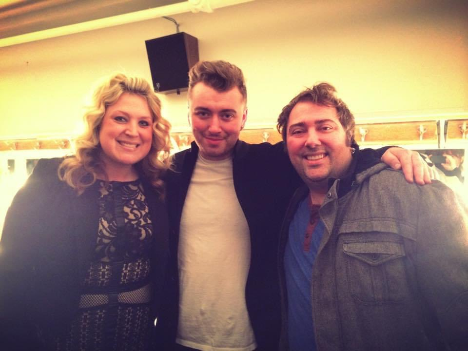 #FlashbackFriday to when we actually had jobs on FM radio and we got to meet the incomparable, fabulous and amazing @samsmith at the @masonicdet. #samsmith