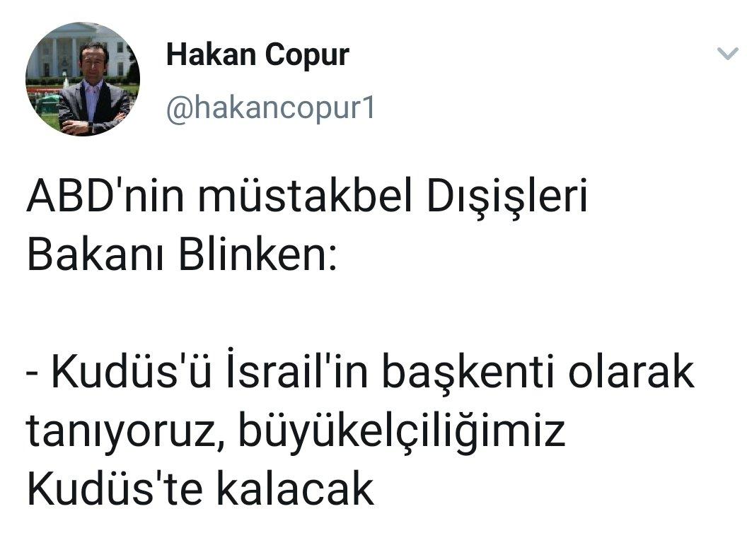 Replying to @mhkekec: Karar islamcısına Blinken'den Kudüs şoku.