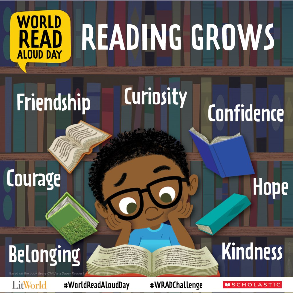 Retweet if youre raising a reader! Be sure to join us on February 3 for #WorldReadAloudDay! Learn more here: bit.ly/38YSiRr