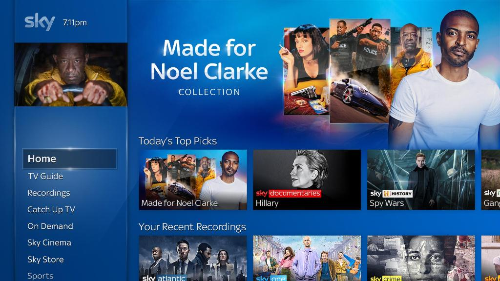 Need some new TV recommendations? Say 'Made for Noel Clarke' into your voice remote to find all of Noel's favourites #MySkyQ 😍📺🙌