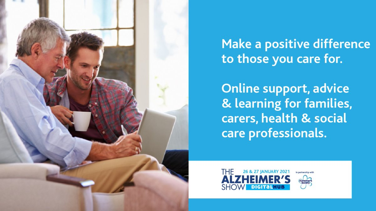 There's still time to register for @AlzheimersShow's series of webinars on 'Caring and dementia: Support, advice & education', taking place Tues 26 and Wed 27 January.  It's set to be two days of interesting conversation and information. Find out more!