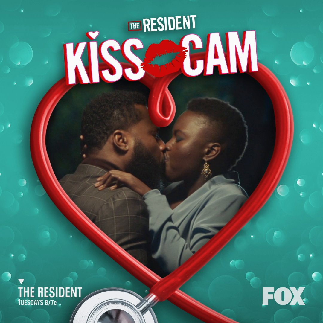 As promised, we now present #Minator kiss cam.  #TheResident