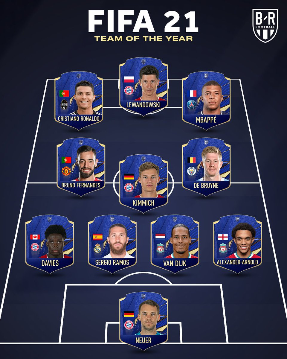 The #FIFA21 Team of the Year is here ✨  No Messi 👀