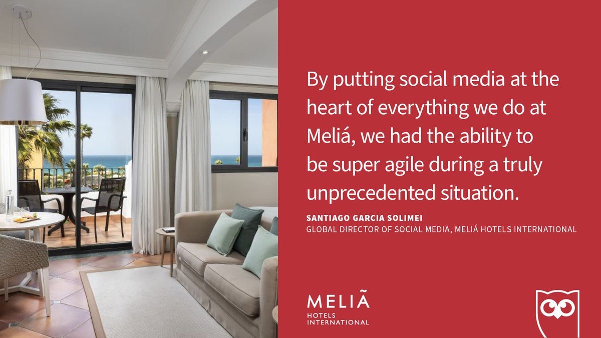 COVID-19 hit the hospitality industry hard in 2020 and when it did @MeliaHotelsInt knew a social-first communication model was going to be key in their recovery.