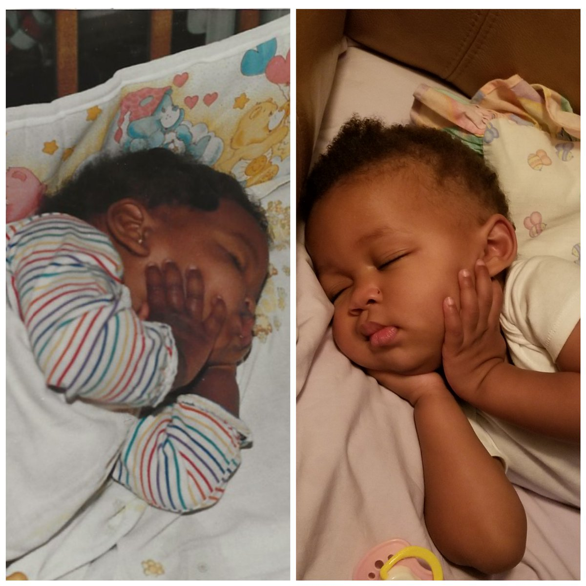 Replying to @ConsciousFilth: My dad just emailed a baby picture of me and it reminded me of a picture of my daughter.