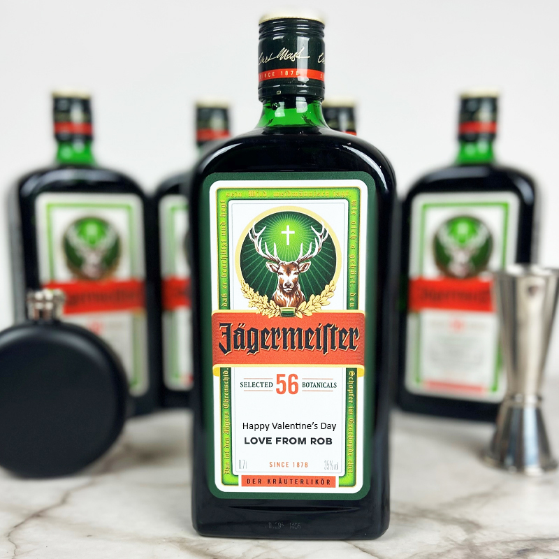 Valentine's Day - why say it with flowers or chocolates, when you could gift a Personalised Bottle of Jager!    #personalised #jager #ValentinesDay #valentinesday2021 #valentinesdaygift #SaturdayVibes #SaturdayMotivation #SaturdayThoughts