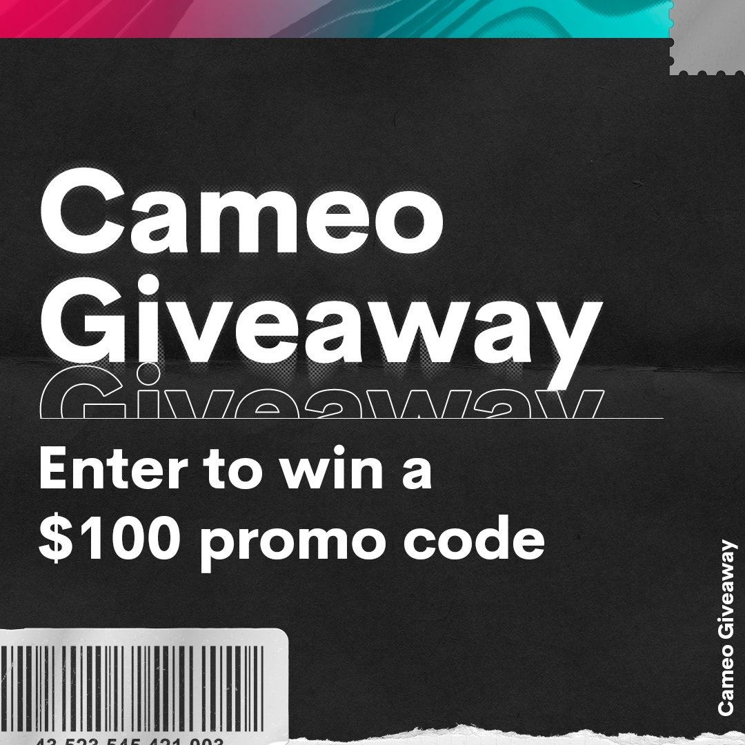 What's that? You want a giveaway? here ya go 👇 #GIVEAWAY  • Follow @BookCameo + fav this tweet • Retweet w/ #CameoSweepstakes  No purchase necessary- see full rules: