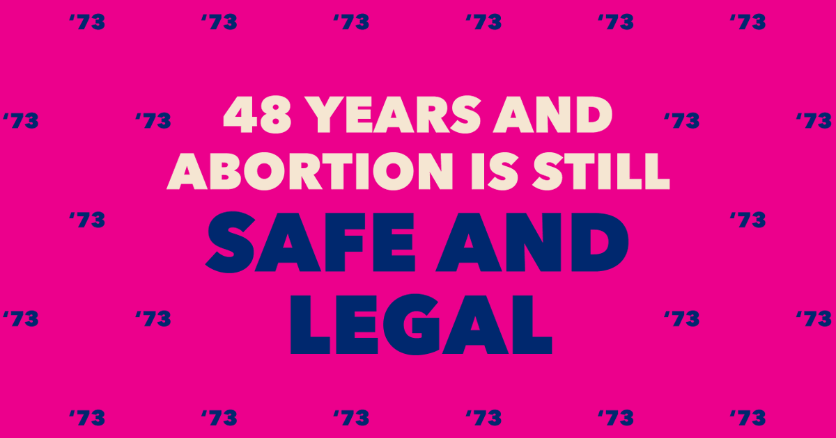 48 years ago Roe v. Wade established the legal right to abortion. Today we celebrate that victory and commit to doing the work to make abortion accessible to all who need it. #RoeAnniversary #RoevWade #AbortionIsEssential