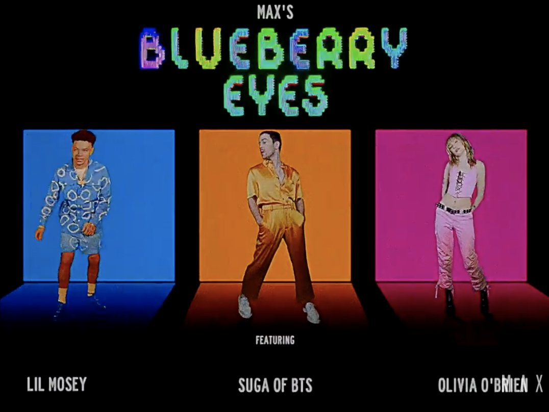 You know what makes me endlessly happy?   Listening to @MAXMusic's #BLUEBERRYEYES remix ft. @lilmosey, @oliviagobrien and Suga of @BTS_twt!!