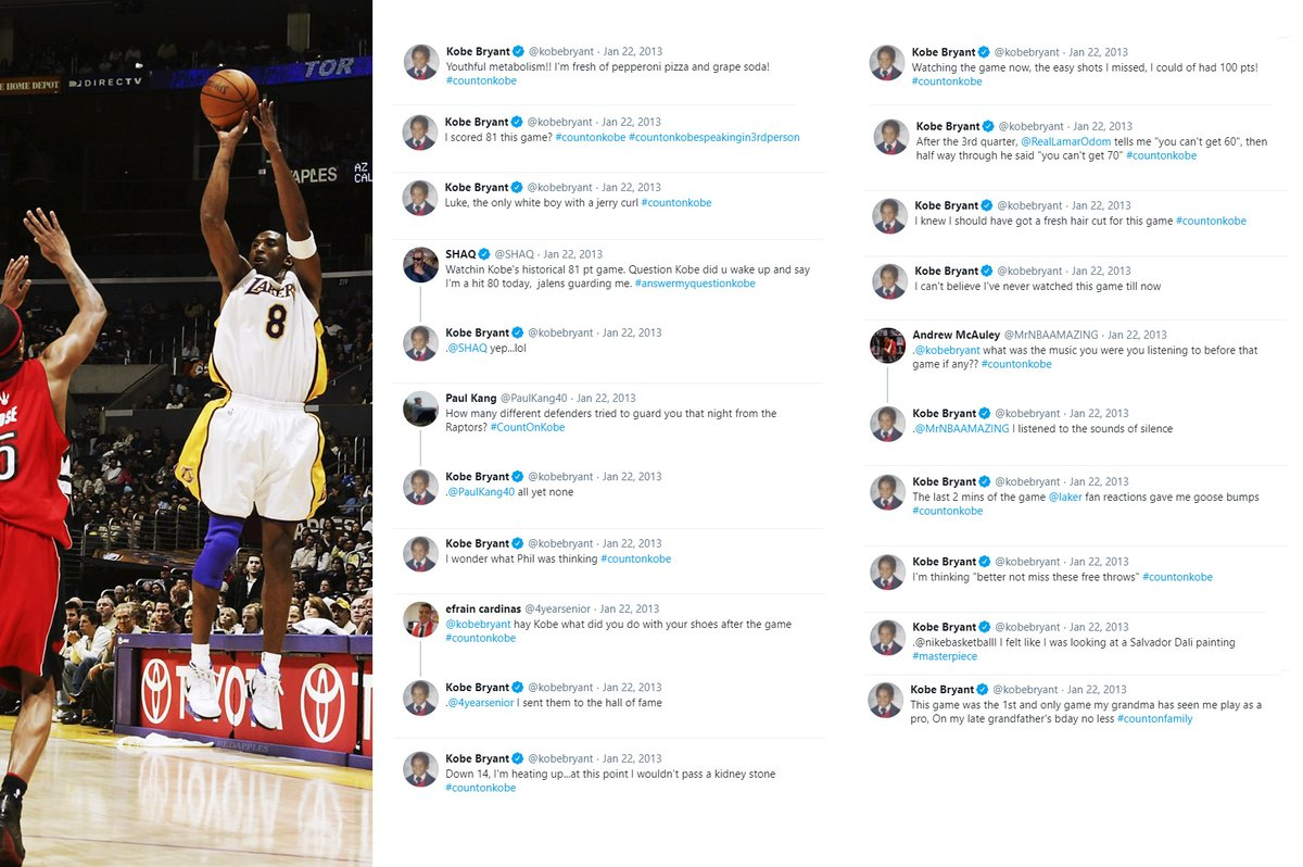 KOBE's hilarious tweets while watching his 81-point game for the first time 🐍 https://t.co/I6hj16pt9k