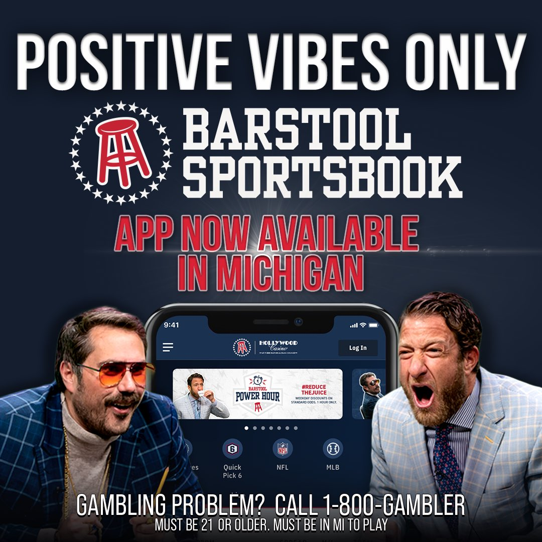 WE ARE LIVE IN MICHIGAN @BSSportsbook. Go to  to download the app and once your deposit is wagered @PNGamingInc is making a 100% match donation to #barstoolfund to help support Michigan small businesses