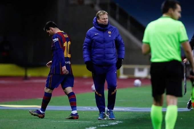 رسميًا: رفضت لجنة الاستئناف استئناف برشلونة لعقوبة ميسي في كأس السوبر الإسباني، تم الحفاظ على المباراتين ولن يلعب يوم الأحد ضد إلتشي في الدوري. https://t.co/d0OfvHzqLI