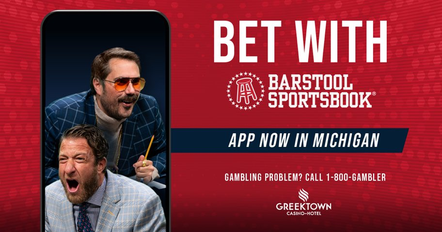 #BarstoolSportsbook is now live in Michigan and every first-time deposit is being matched by Penn with a donation to the #BarstoolFund.  DOWNLOAD IT!