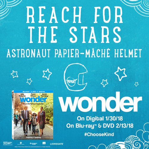 Check out this awesomely easy #CRAFT of a HELMET from an Incredibly Moving #WONDER Movie on Blu-ray Combo DVD Pack. Watch with your kiddos, family, neighbors! #WonderMovie #LionsgateMovies @Lionsgate #lionsgatepartner