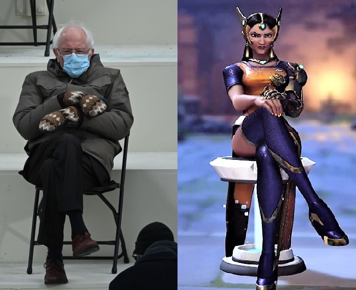 @sweeetanj The more i see Senator Bernie Sander's sitting meme, the more i think he is channeling his inner Architect. The only thing missing is a set of microwaving turret.