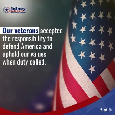 A strong military is created with teamwork, and 'Thank You' is not enough. Let's continue to support the transition to civilian life for our veterans.  #ReentryDelaware #USveterans #veteransday #incarceration #prisonreform
