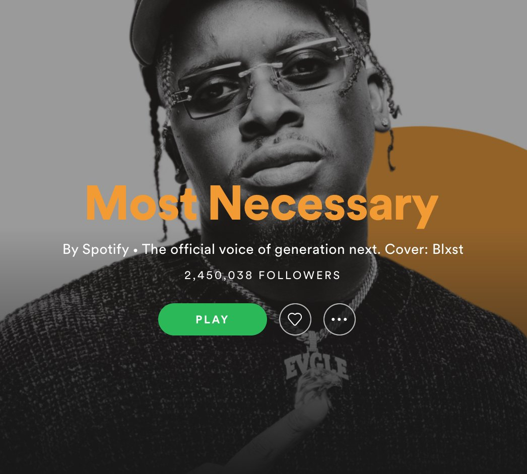 """A familiar face on the cover of @spotify's """"Most Necessary"""" playlist! Head over to @spotify to hear blast's track """"Chosen (feat. @Tyga & @tydollasign)"""" on @RapCaviar & """"Most Necessary"""" this week 🎧 🦅"""