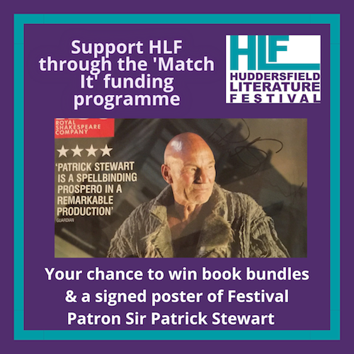 Win a signed poster of Festival patron Sir Patrick Stewart - all funds raised before 31 Jan matched by @oc_kirklees Find out more: