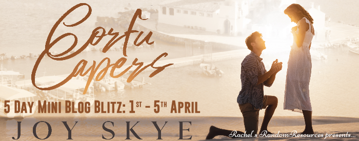 New Tour Alert! New Tour Alert!  Corfu Capers by @JoySkye4 1st - 5th April   #bookbloggers who enjoy #romcoms or books set in #corfu #greece please consider this tour and let me know if you fancy a spot.