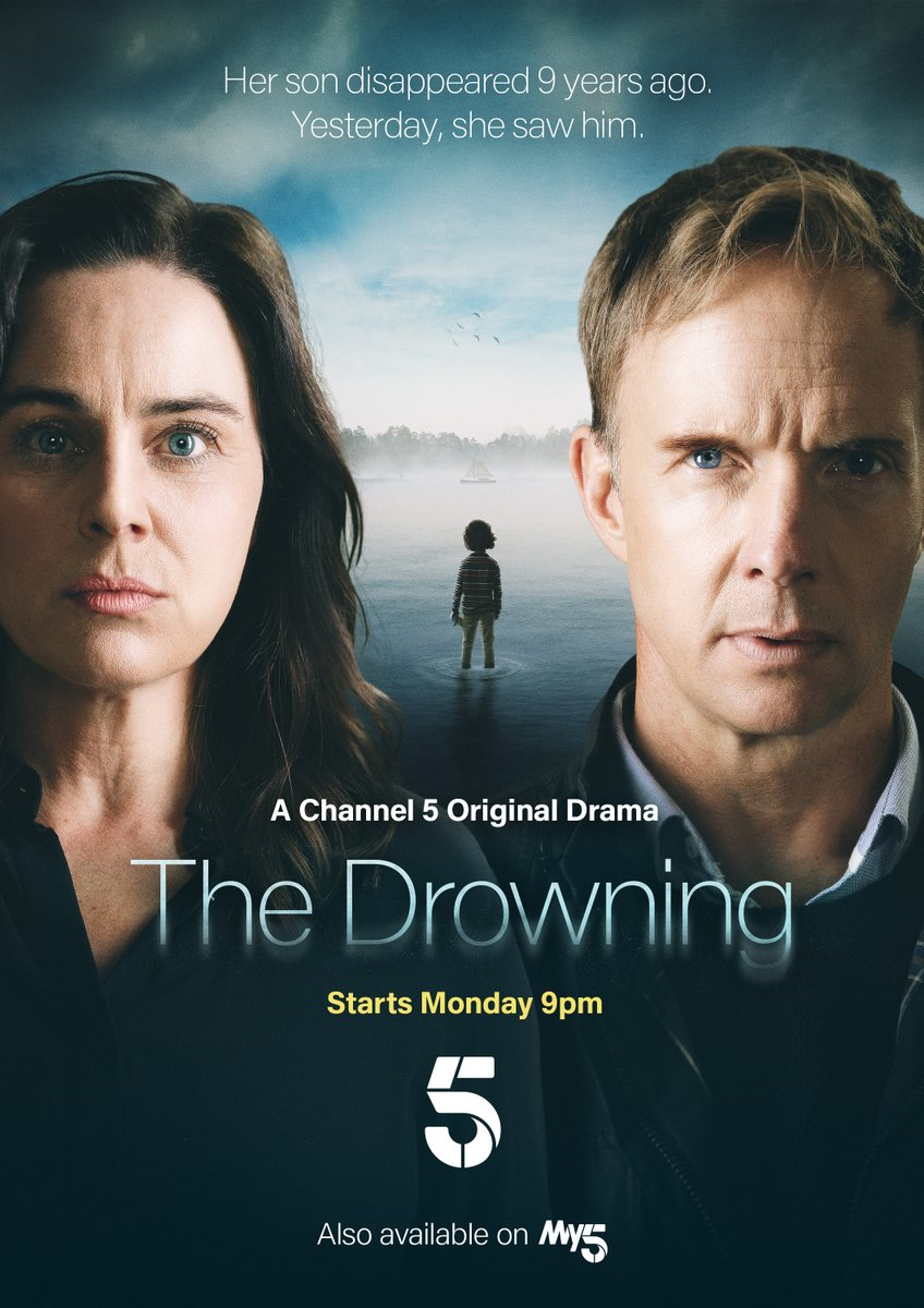 Monday 1st Feb. #THEDROWNING will air on @channel5_tv DO NOT MISS IT Produced by us a @UnstoppableLtd Team mates @JasonMaza and @CEGMcK with the skills. Starring @halfpennyjill n @JadeAnouka Directed by @CarolinaGiammet and Written by @DynevorTim Give it some love.
