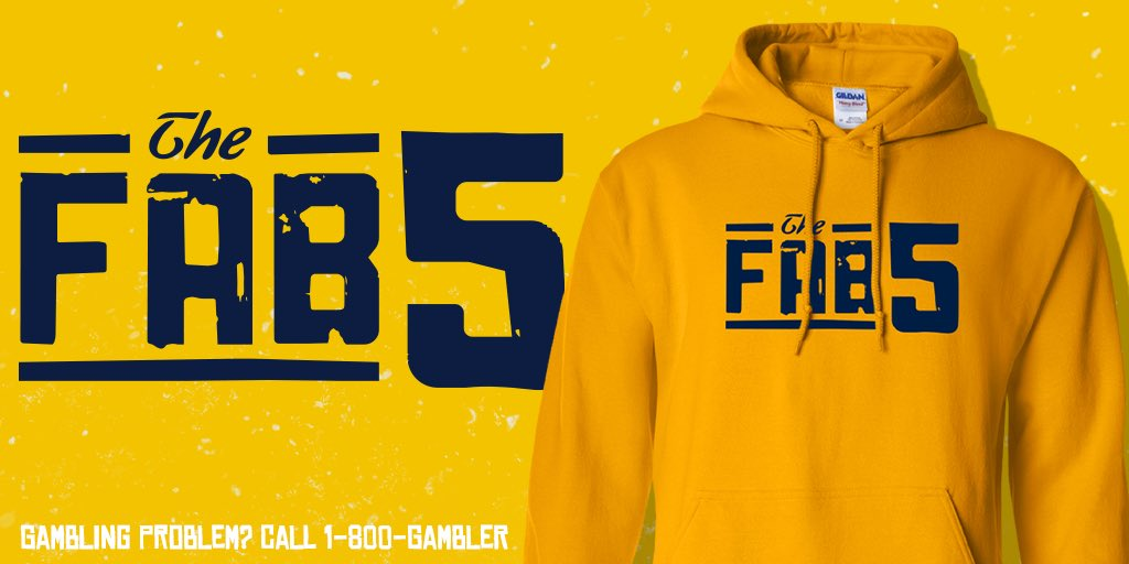 🚨THE FAB 5🚨  $100 minimum on Michigan Spread tonight and no matter what you win this 🔥hoodie