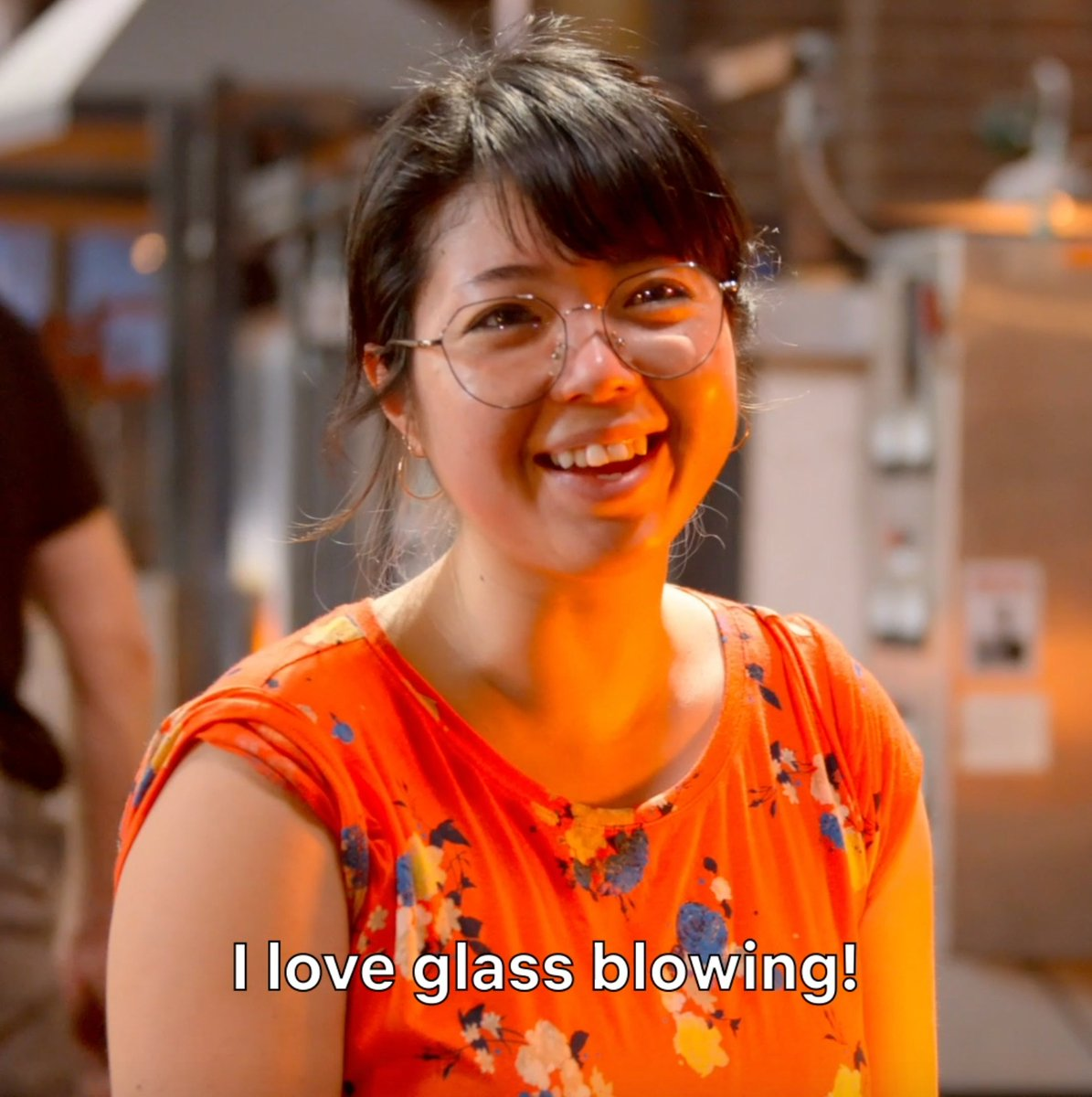Love everything you do as much as Nao loves glass blowing!    Blown Away Season 2 is now on Netflix