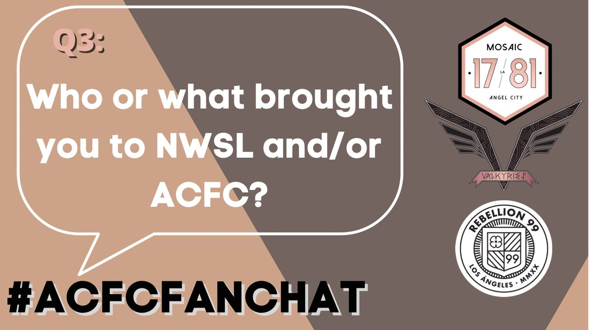 Replying to @NWSL_LA: Q3: Who or what brought you to NWSL and/or ACFC?   Answer below using #ACFCFanChat 👇🏽