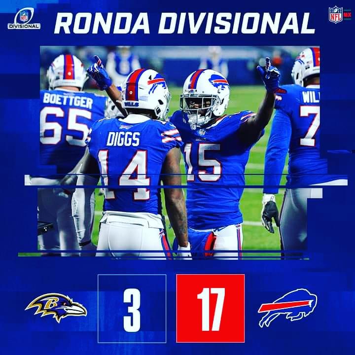 ⚜️ Ronda Divisional⚜️  Aunque fueron muy pocos puntos en el marcador los Buffalo #Bills se llevan la victoria sobre los Baltimore #Ravens que tenían esperanza de continuar en este camino  #RosterNFL #Kickoff #NFLMX #NFL2020