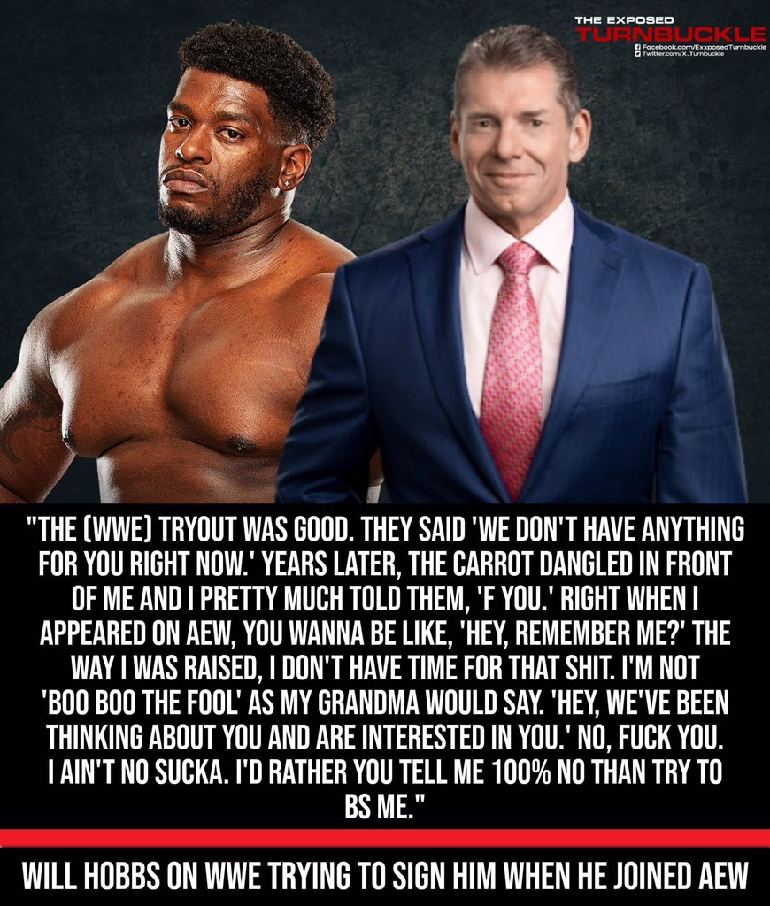 PowerHouse Hobbs talking about his #WWE tryout & when #WWE contacted him when he appeared on #AEW television.   #AEW #WWE