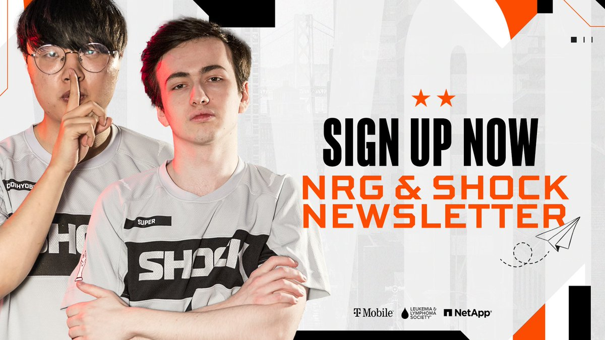 Sign up for the weekly @NRGgg Newsletter for wall-to-wall weekly #NRGFam coverage from Overwatch to Rocket League and everything in between! 📝: bit.ly/nrgnewsletter