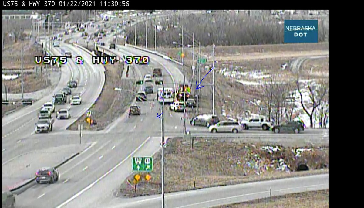 Image posted in Tweet made by Omaha Hwy Conditions on January 22, 2021, 5:31 pm UTC