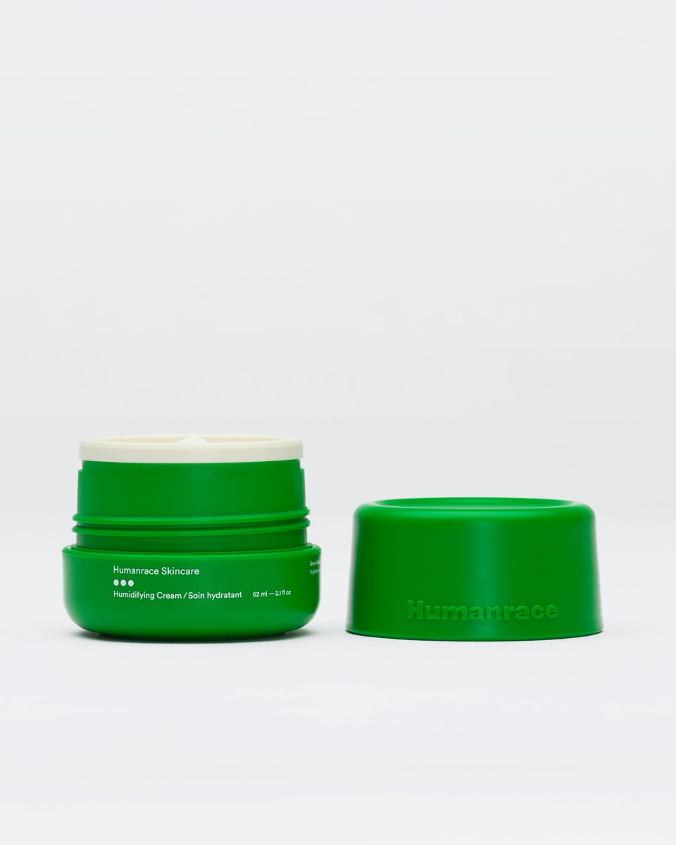 Replenish, nourish and protect your skin by hydrating daily, morning and night. Our Humidifying Cream is the third step in the Routine Kit on sale now.   All Humanrace formulations are vegan, fragrance-free, and cruelty-free.