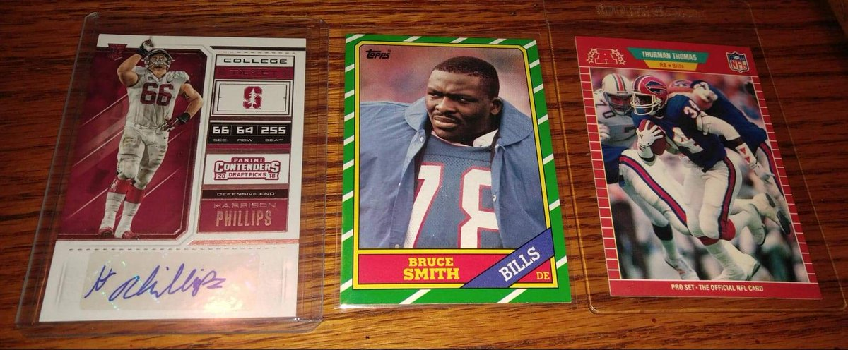 ANOTHER GIVEAWAY!  #BillsMafia, to win this lot which includes a Harrison Phillips auto card, you must do the following:  1) Follow myself & @jimmyreu81  2) RT this Tweet 3) Comment with your score predictions for Sunday.   Winner announced Monday. #GoBills and good luck!