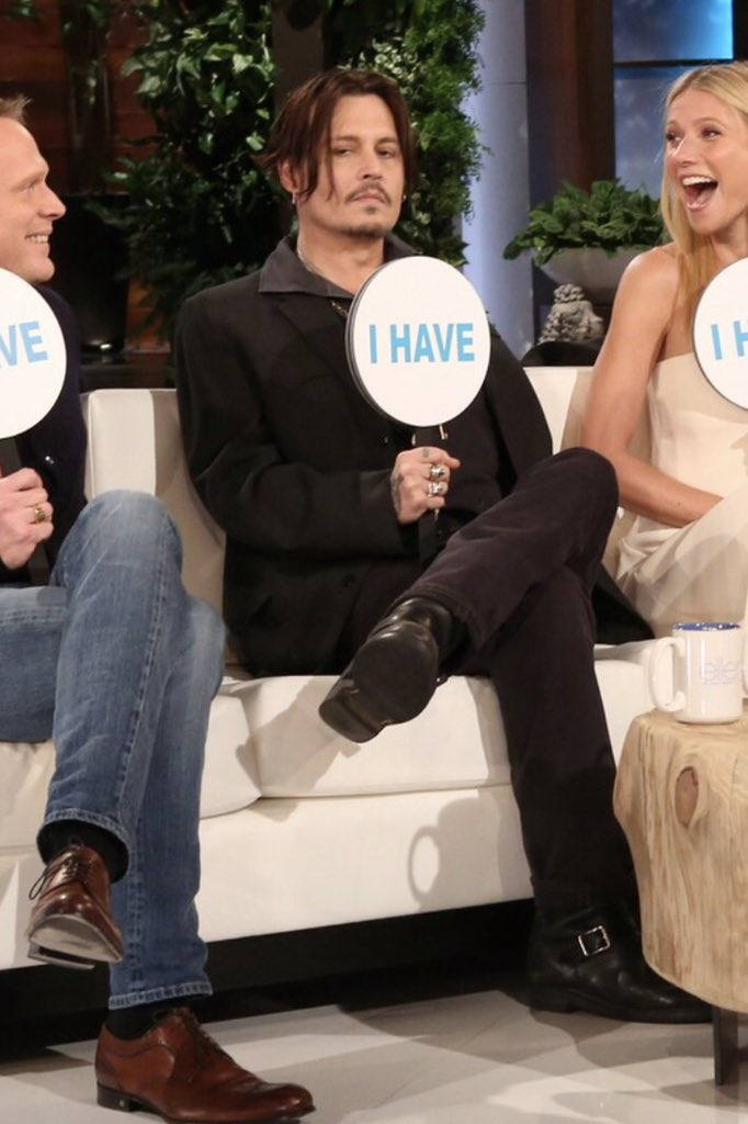 On January 22 2015  Johnny Depp and cast of Mortdecai were interviewed at the Ellen DeGeneres Show