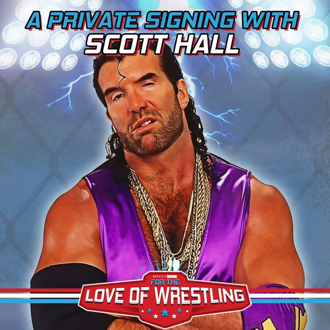 We still have some spots left for our upcoming private signing with the 'Bad Guy' Scott Hall   View images below for more info  #ScottHall #RazorRamon #WWE #WWF #WCW #TNA #ImpactWrestling #IMPACTUK #NWO #wrestling #WrestlingTwitter #Autograph #ForTheLoveofWrestling