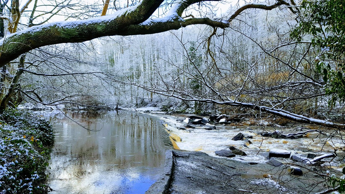 Snowfall on the River Almond #snowfall #uksnow #FridayFeeling #river #WINTER #exercise #nature #photography
