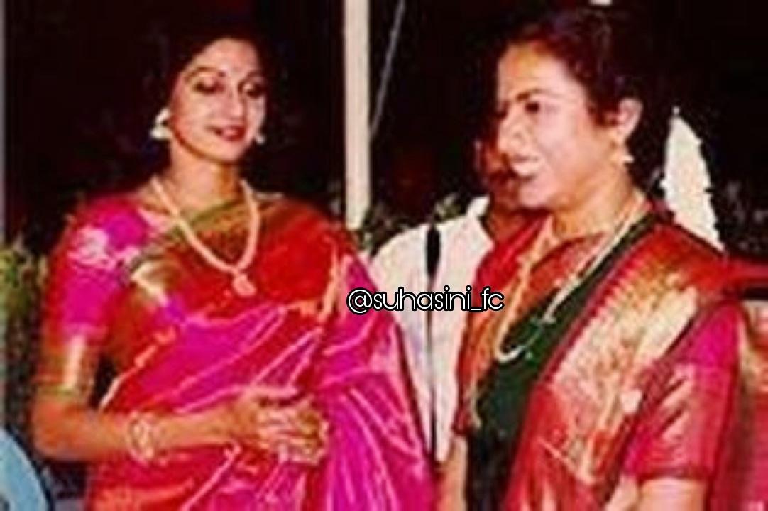 #throwback rare picture of our #multitelented legendry queen suhasini Maniratnam mam's & #sridevi mam's   Memories are always sweet.  #tbt🔙📸 #80s #legends   ❤ @SrideviBKapoor mam with @hasinimani mam❤ #frindshipgoals