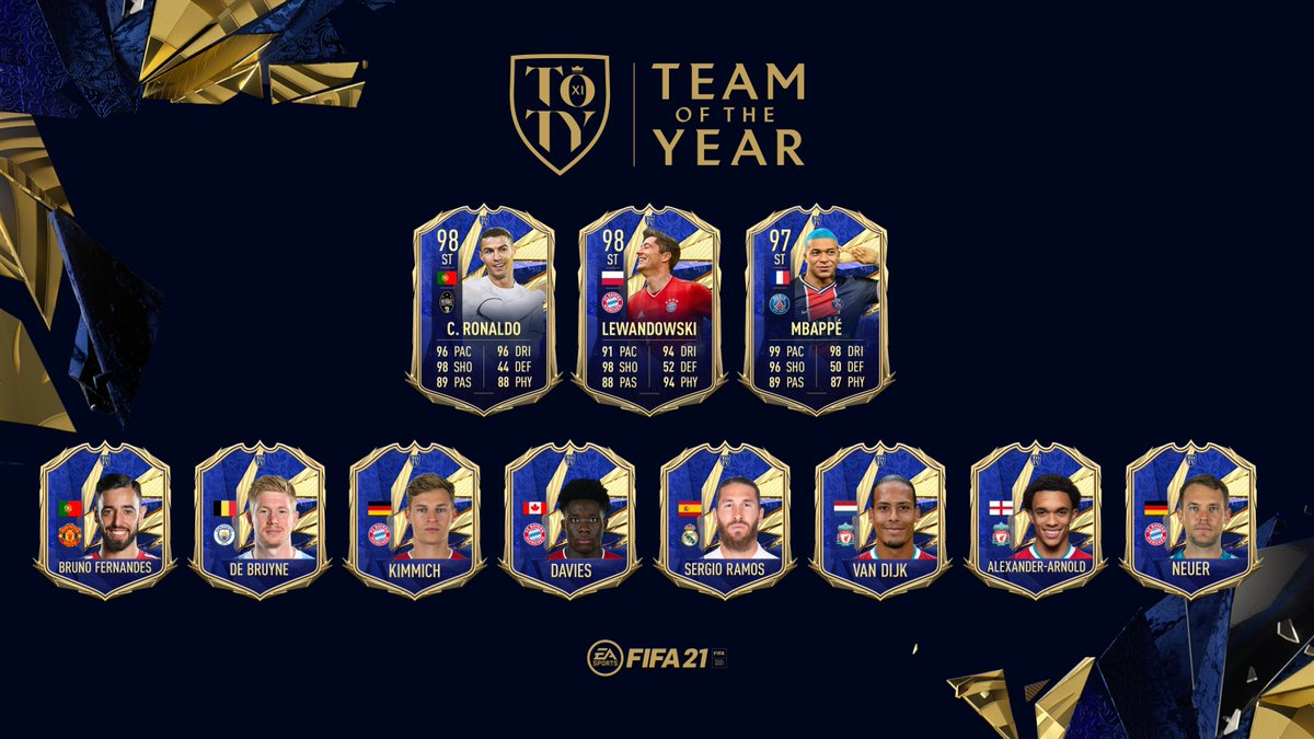 The marksmen who make every strike unstoppable. 🎯  Introducing the ratings for your Team of the Year Attackers.  #TOTY #FIFA21