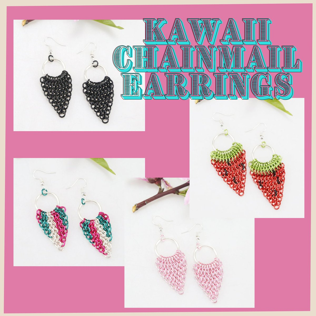 Shop Kawaii Earrings at   #fashion #style #stylish #earrings #pretty #alternativegirl #gothicaesthetic #gothicstyle #styles #outfit #shopping #pastelgoth #nugoth #tradgoth #Egirls #kawaii #darkgrunge #darkfashion #HARAJUKU~天使がくれた七日間~ #emo